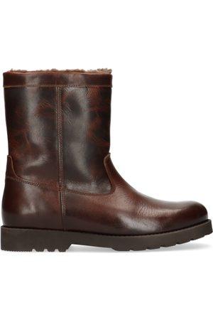 Manfield Bruine leren worker boots