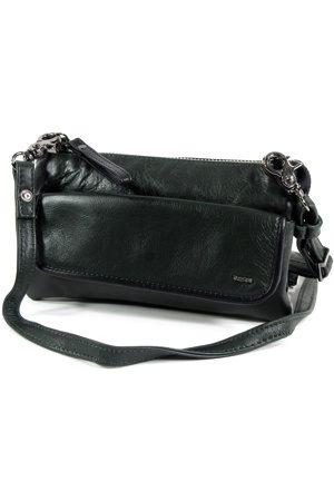 Berba Dames Portemonnees - Dames 3 vaks schoudertasje clutch portemonnee soft