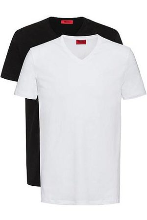 HUGO BOSS Heren Outfit sets - Set van twee T-shirts van stretchkatoen met V-hals