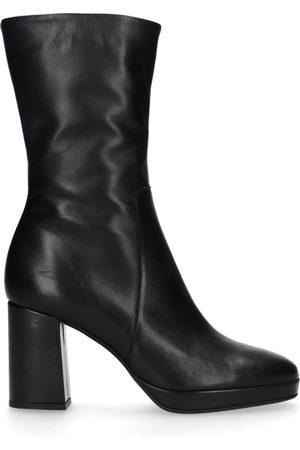 Sacha Dames Laarzen - Zwarte korte laarzen met hak