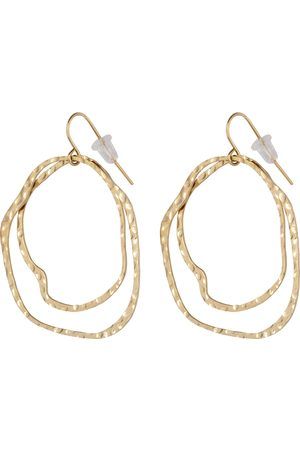 The Little Green Bag Oorbellen Curved Beaten Hoops X My Jewellery Goudkleurig