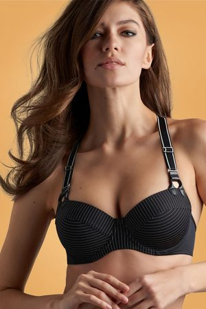 Marlies Dekkers Dames Slips - Gloria Plunge Balconette Pinstripe Bra in Black