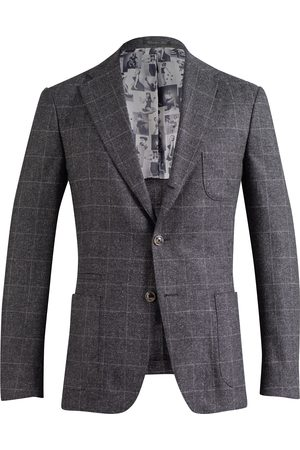 SOC13TY Pak Heren Geruit Wool Cashmere Silk