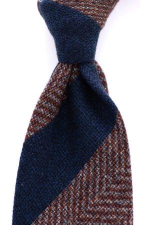 SOC13TY Das Heren Navy Gestreept Wool & Silk