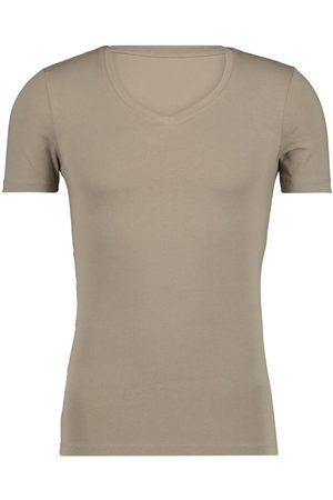 HEMA Heren T-shirt Diepe V-hals - Slim Fit - Biologisch Katoen