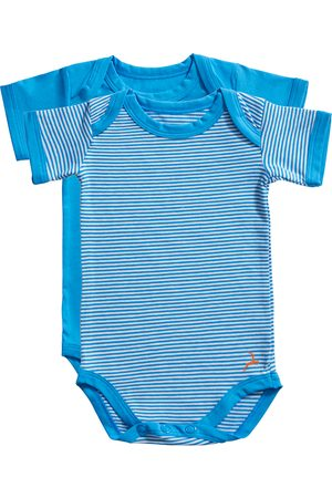 Ten Cate Kinderen Lingerie & Ondermode - Romper Stripe and dive blue 2 pack maat 62/68