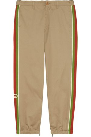 Gucci Heren Broeken - Cotton trousers with stripes