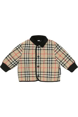 Burberry Baby checked quilted jacket