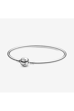 PANDORA Moments Bangle, Sieraden uit Sterling zilver, No stone, 590713-15