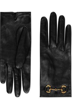 Gucci Dames Handschoenen - Leather gloves with Horsebit