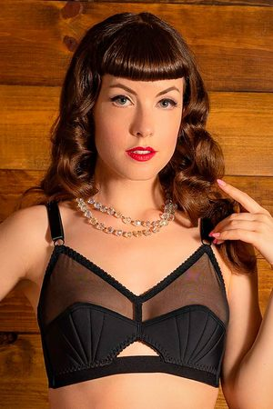 what katie did 50s Liz Retro Bra in Black