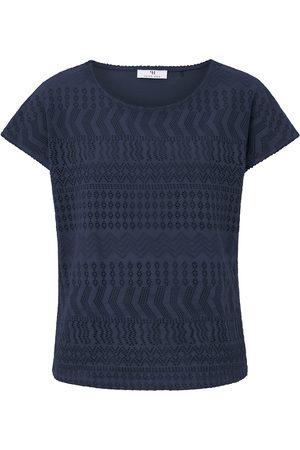 Peter Hahn Dames Shirts - Shirt met ronde hals en korte, verbrede mouwen Van