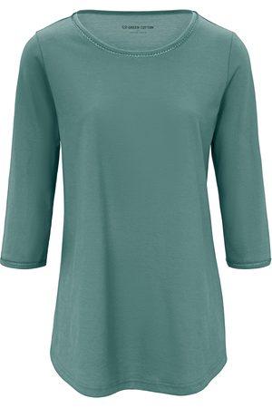 Green Cotton Shirt met 3/4-mouwen Van