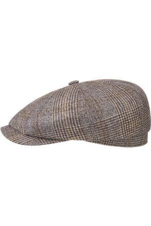 Stetson Heren Petten - Hatteras Fine Check Wool Pet by