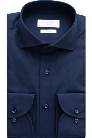 Profuomo Overhemd Heren Navy Katoen