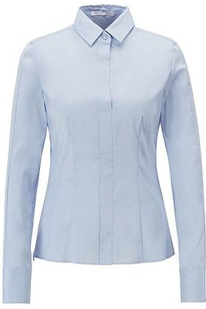 HUGO BOSS Slim-fit blouse met gestikt zoomdetail