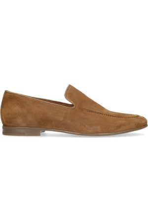 Manfield Heren Loafers - Camel suède loafers