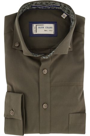 Blue Crane Shirt Slim Fit legergroen