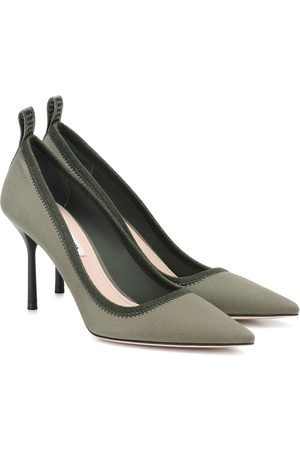 Miu Miu Twill point-toe pumps