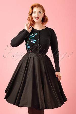 Bunny 50s Paula Swing Skirt in Black