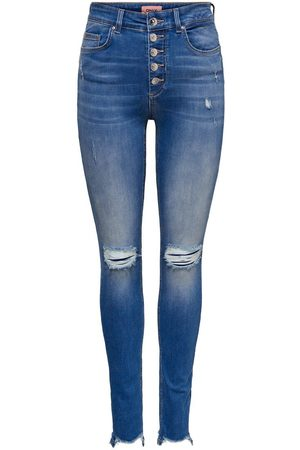 Only Onlfblush Hw Ankle Button Skinny Fit Jeans Dames