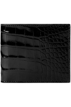 Gucci Heren Portemonnees - Crocodile bi-fold wallet
