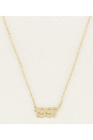 My Jewellery Dames Kettingen - Kettingen Ketting Jaartal Goudkleurig
