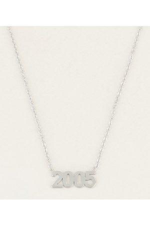 My Jewellery Dames Kettingen - Kettingen Ketting Jaartal Zilverkleurig