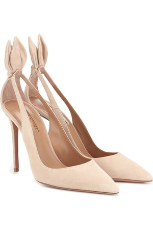 Aquazzura Deneuve 105 suede pumps