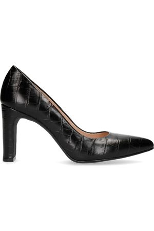 Sacha Dames Pumps - Zwarte leren croco pumps