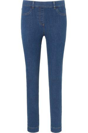 Peter Hahn Dames Jeans - Enkellange jeans pasvorm Sylvia met ritssluiting Van