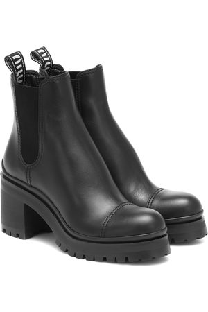 Miu Miu Dames Enkellaarzen - Leather ankle boots
