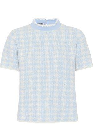Miu Miu Checked wool-blend top