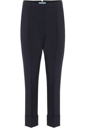 Prada High-rise virgin wool pants