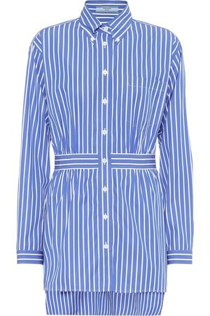 Prada Striped cotton-poplin shirt
