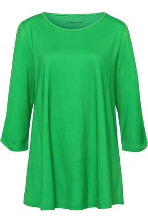 Green Cotton Lang shirt van 100% katoen met 3/4-mouwen Van