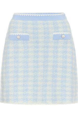Miu Miu Houndstooth wool-blend miniskirt