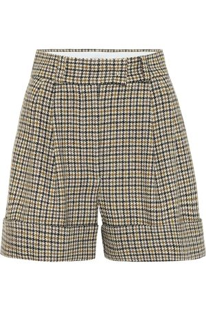 Miu Miu High-rise wide-leg wool shorts