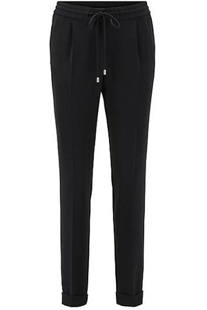 HUGO BOSS Dames Pantalons - Kortere relaxed-fit broek van stretchcrêpe