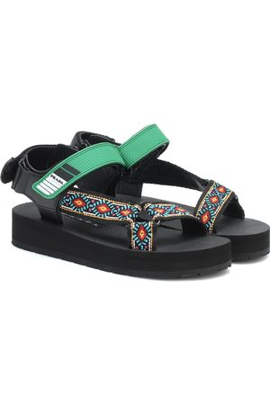 Prada Nomad embroidered sandals