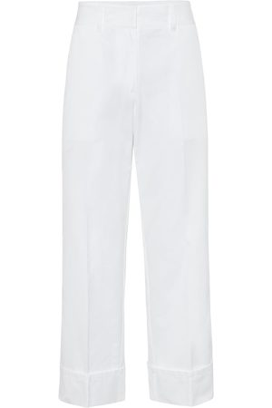 Prada High-rise straight cotton pants