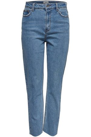 Only Onlemily Hw Cropped Ankle Straight Fit Jeans Dames