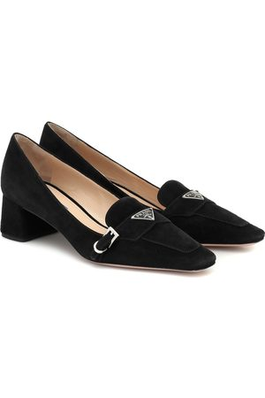 Prada Suede loafer pumps