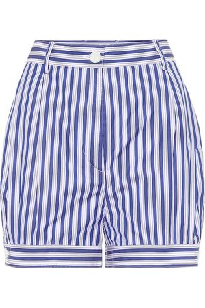 Prada Striped cotton shorts