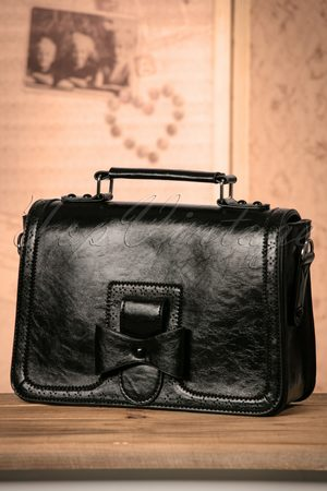 Banned Retro 50s Scandal Office Handbag in Black