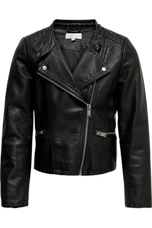 Only Kinderen Jacks - Konfreya Faux Leather Biker Otw Noo: