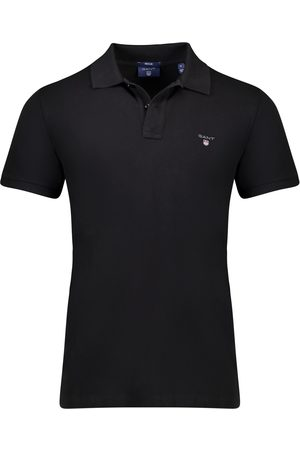GANT Zwarte polo regular fit