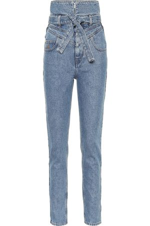 The Attico Dames High waisted - High-rise straight jeans