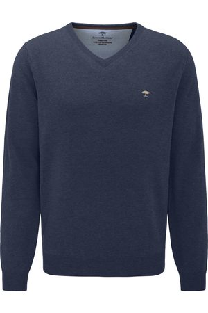 Fynch-Hatton Heren Sweaters - Trui Blauw SFPK211