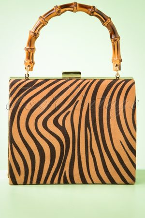 Darling Divine 50s Zebra Box Bag in and Black